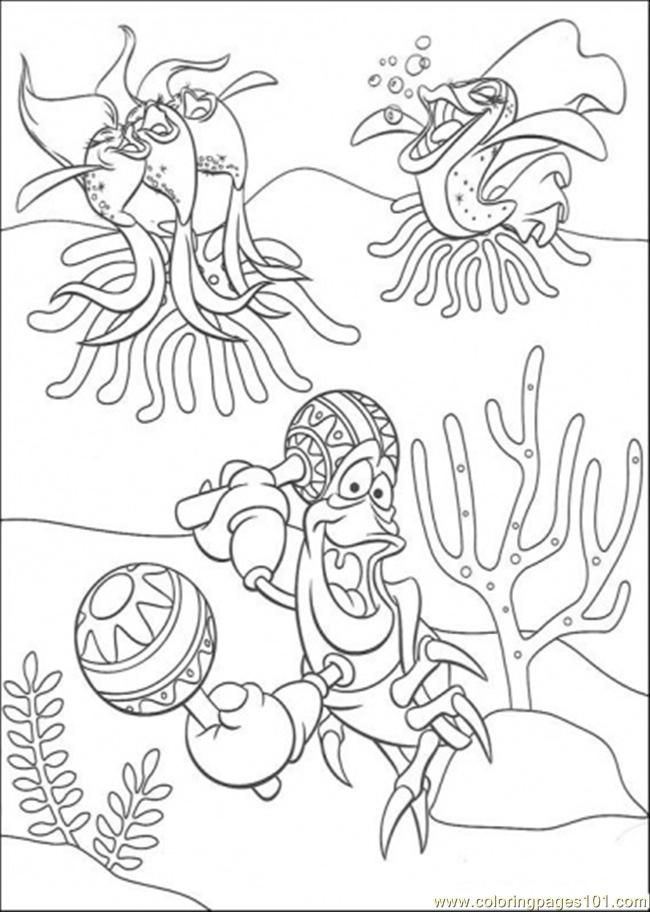 little mermaid christmas coloring pages - photo#33