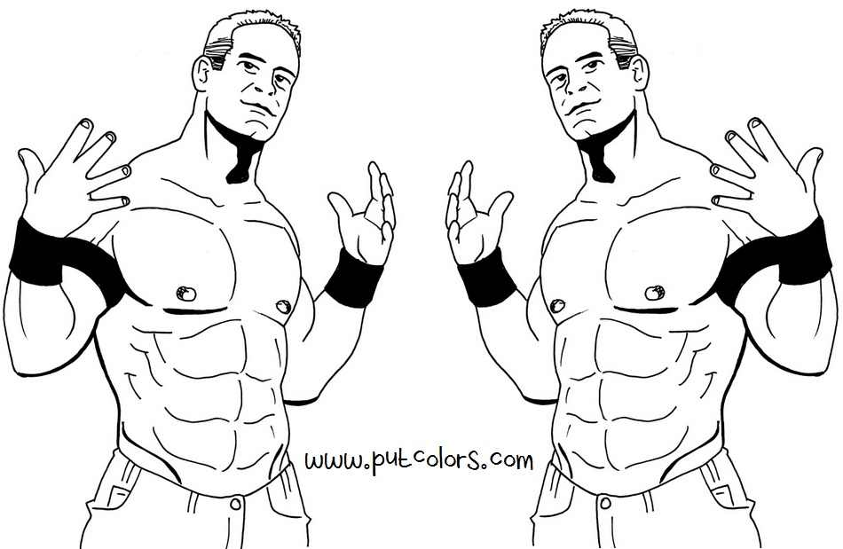 Wwe Coloring Pages John Cena - Coloring Home