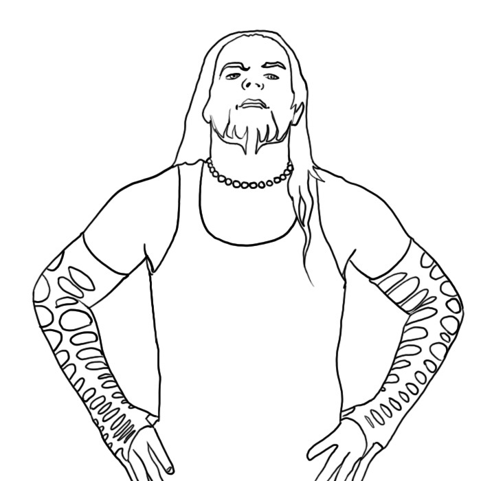 coloring pages wwe - photo#8
