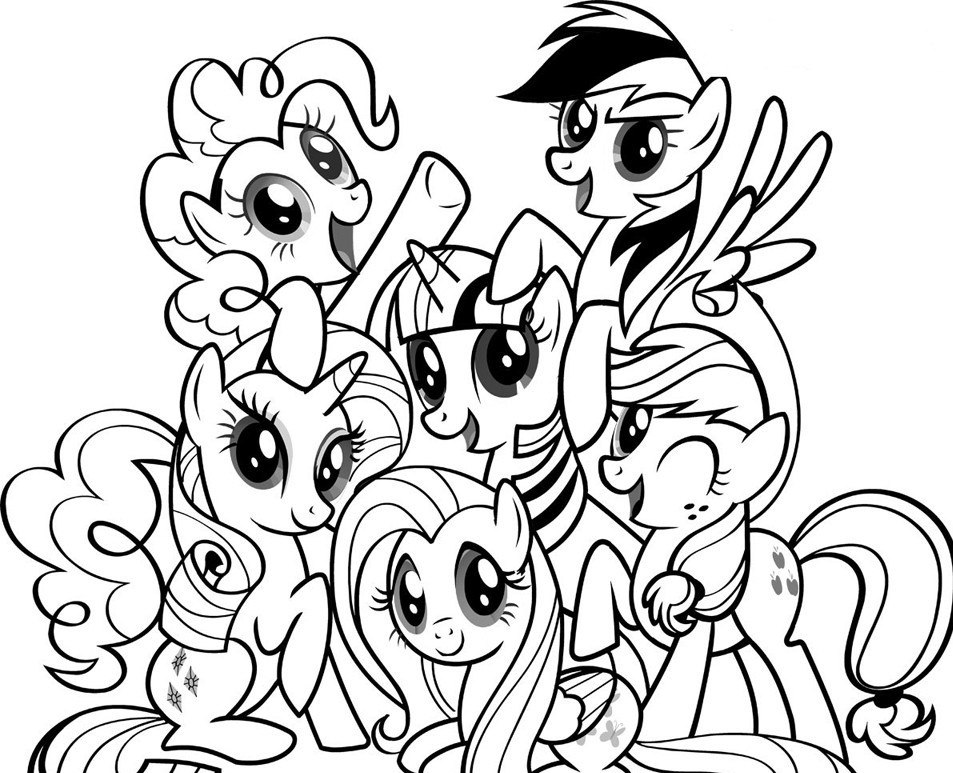 My little pony coloring page az coloring pages for Pony coloring pages online