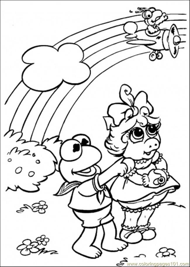 Coloring Pages Look At That Rainbow (Cartoons > Muppet Babies