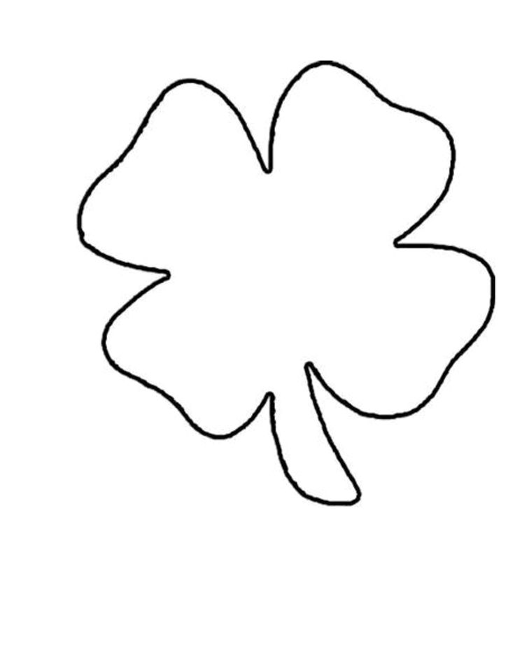 Free Printable Shamrock Template - Coloring Home