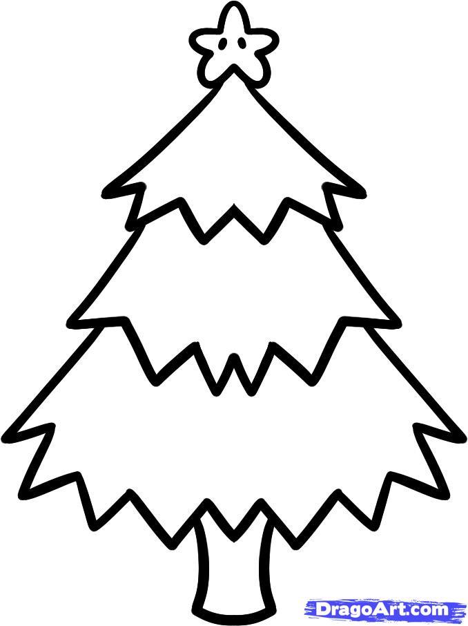 Christmas Cartoons to Draw How to Draw a Christmas Tree