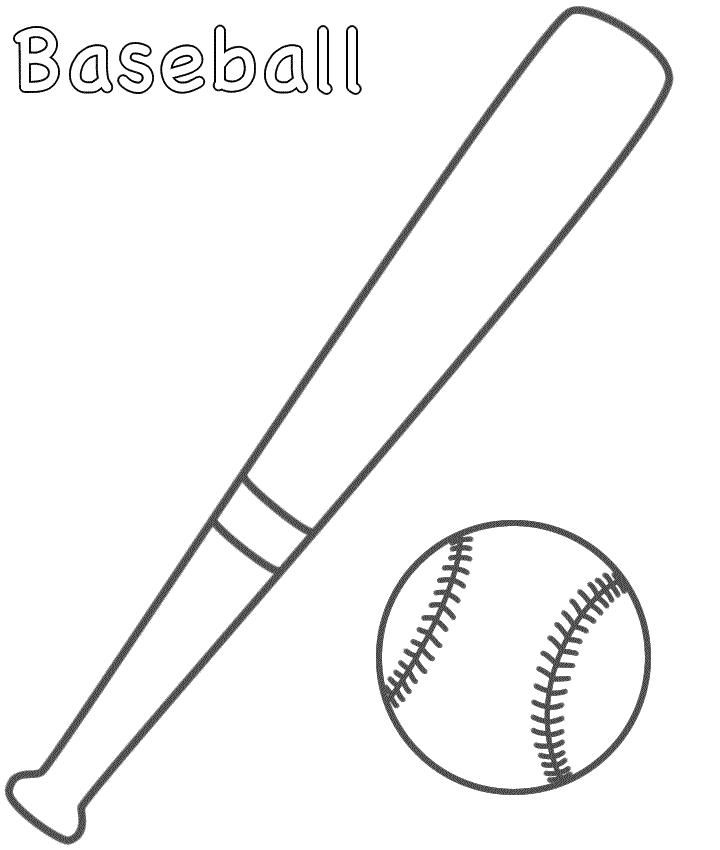 Baseball Bat Coloring Pages