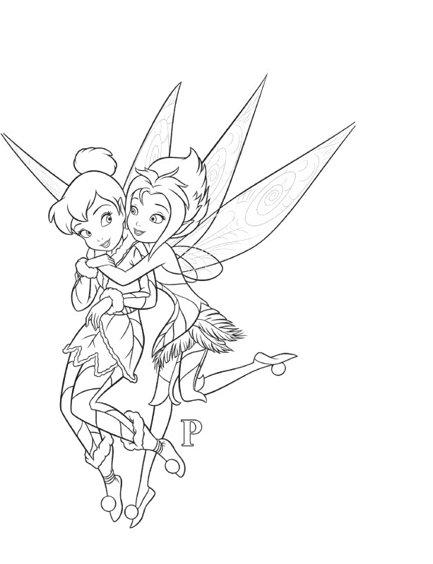 tinkerbell and friend coloring pages - photo#27