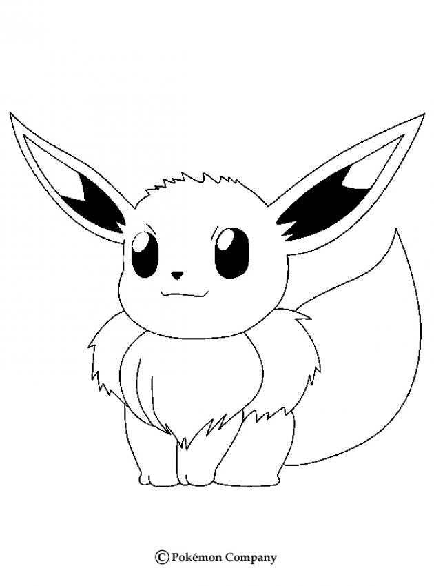 NORMAL POKEMON coloring pages - Eevee