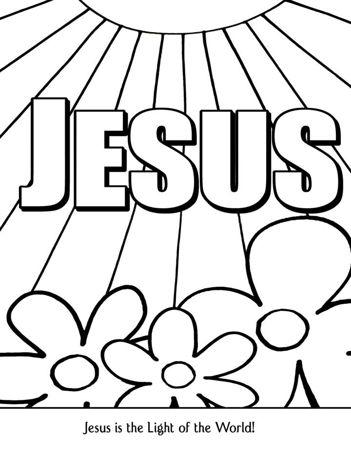 coloring jesus light page world free coloring pages