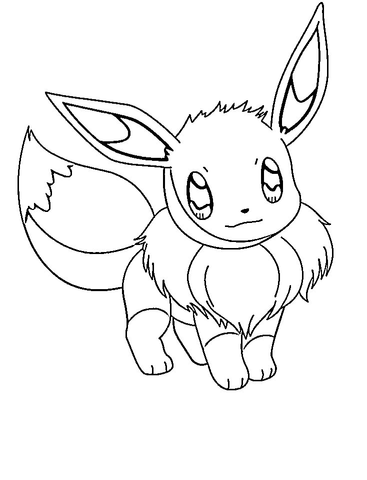 Pokemon Eevee Coloring Pages |Pokemon coloring pages Kids Coloring Day
