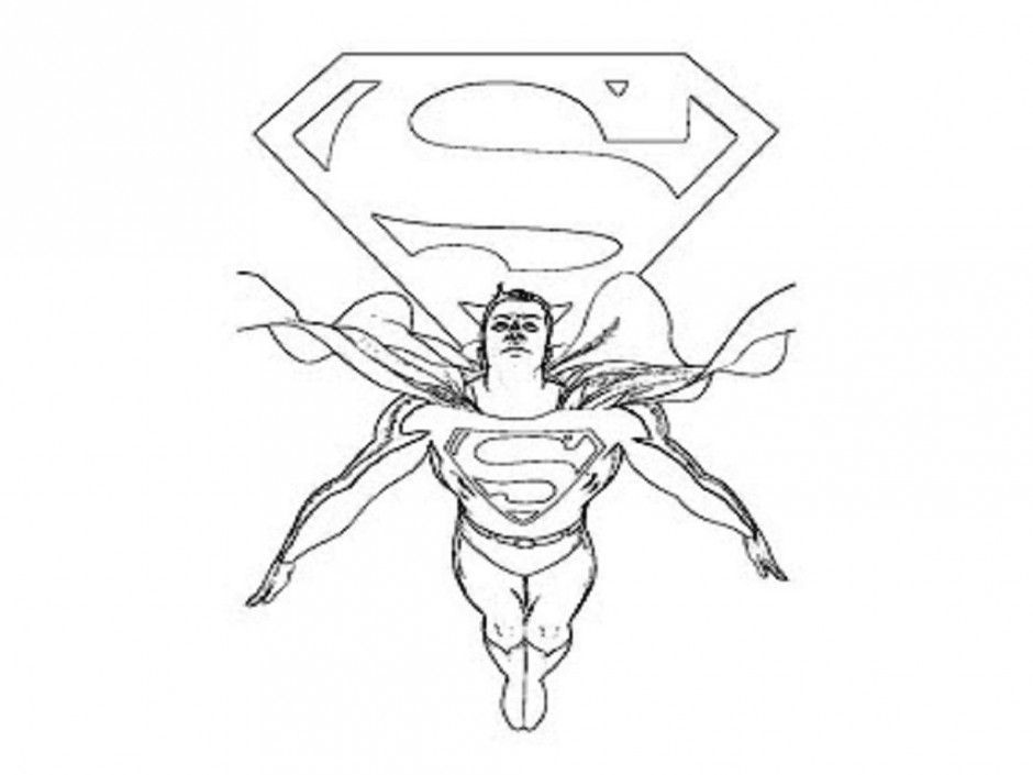 Superman Coloring Pages For Kids Printable Coloring Home