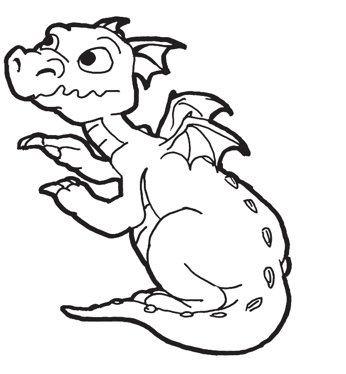 Baby Dragon Coloring Pages Coloring Home
