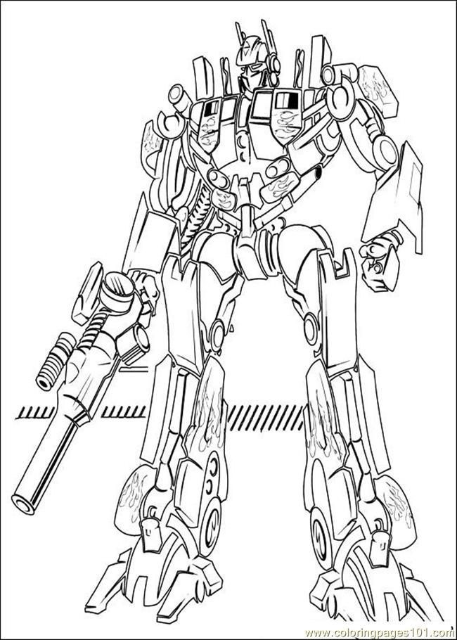 Cartoons Transformers Printable Coloring Page