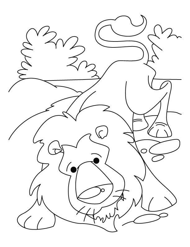 alex the lion coloring pages - photo#24