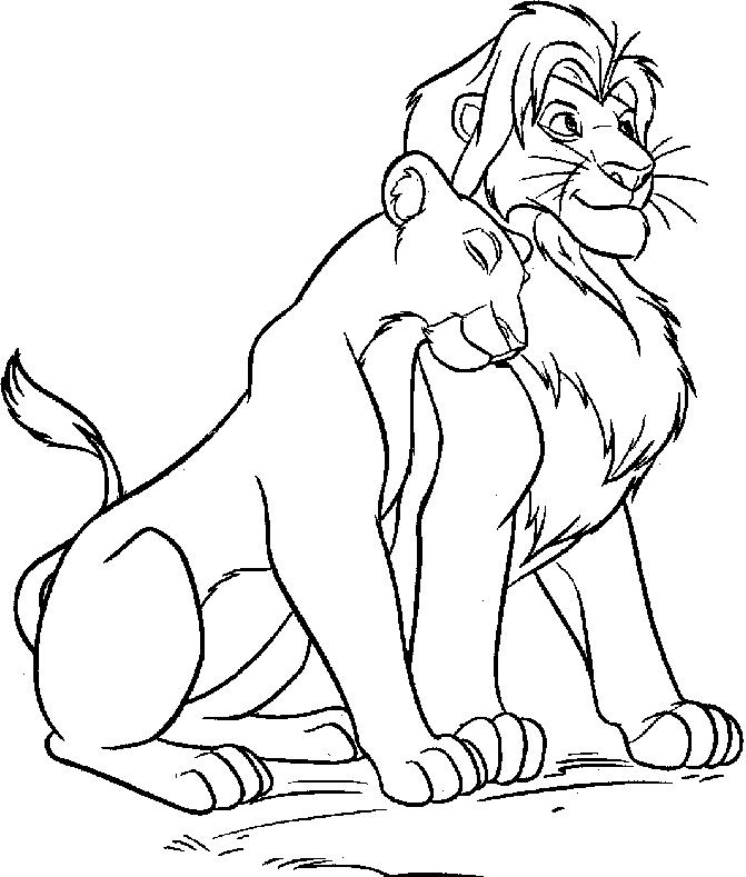 The Lion King Simba And Nala Drawings Lion King Simba With Nala