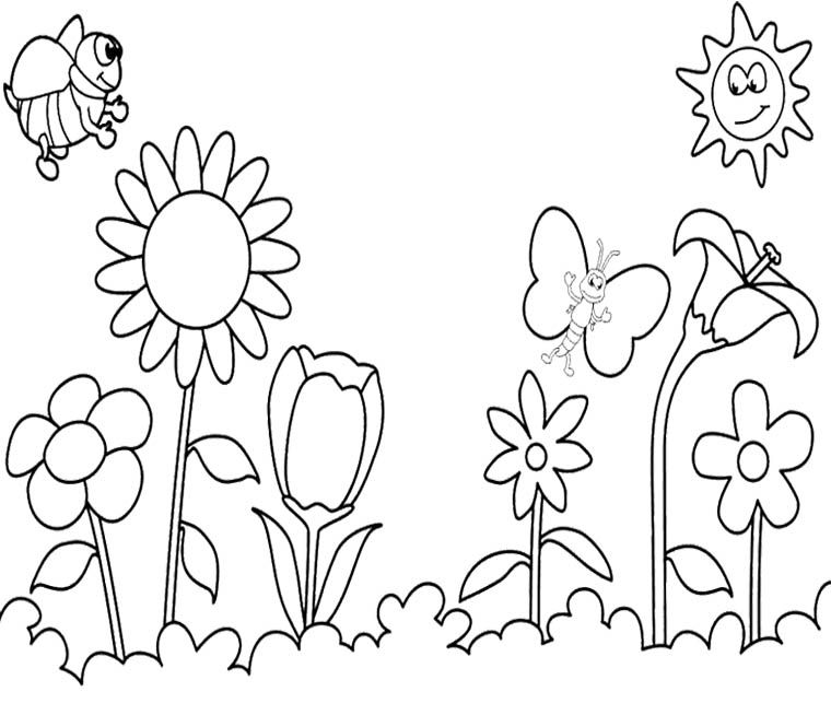 Happy spring coloring pages coloring home for Spring animal coloring pages