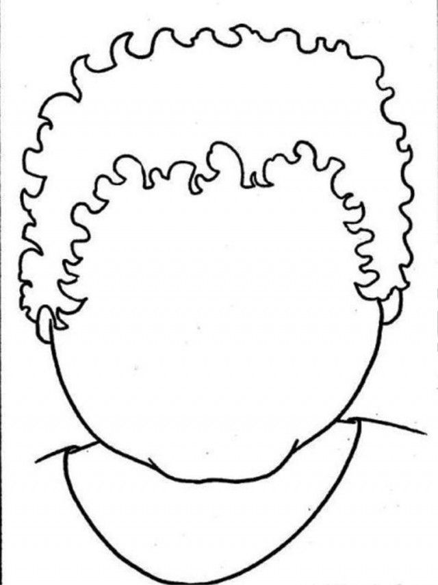 Empty Curly Face Coloring Page Coloringplus 219037 Pages
