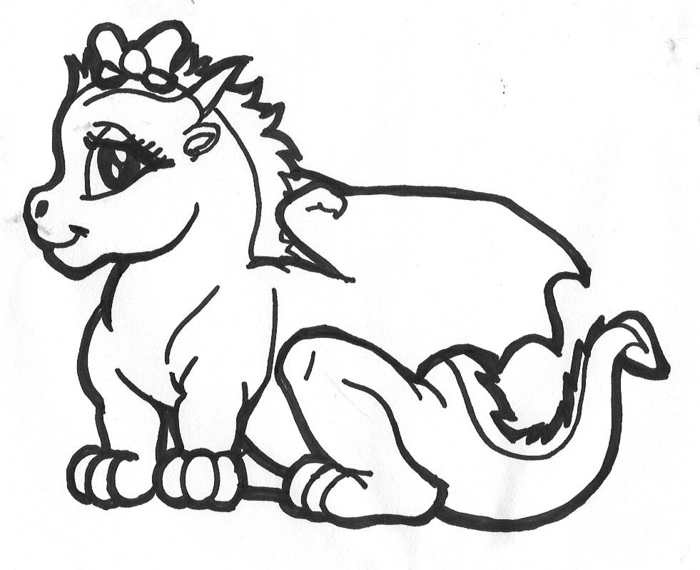 Cute Dragon Coloring Pages AZ