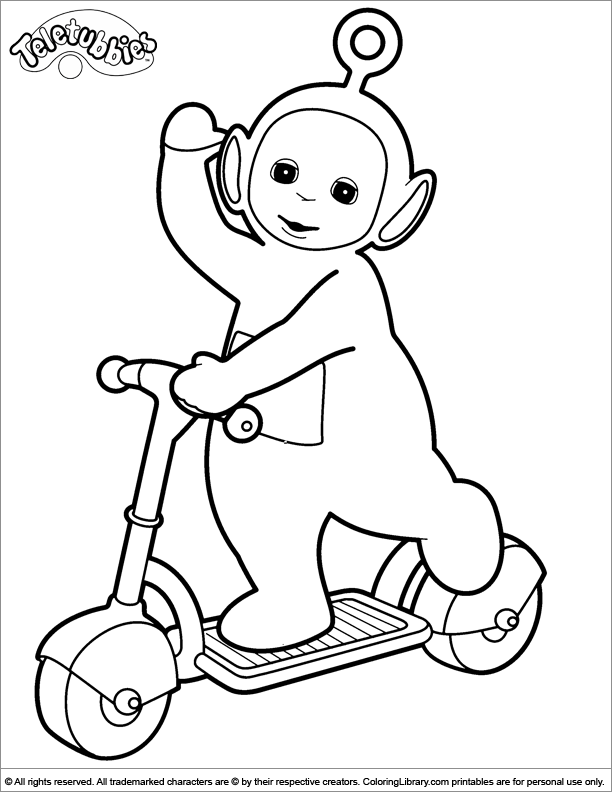 teletubby coloring pages - photo#20