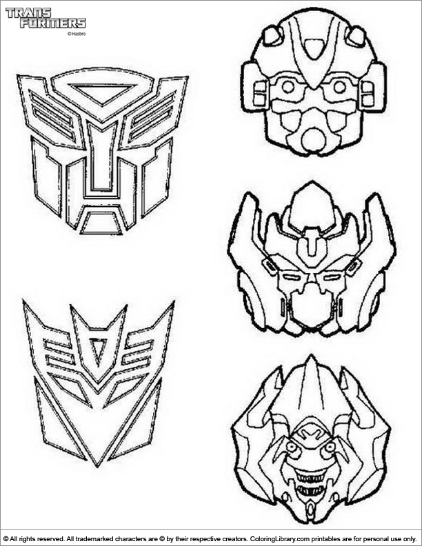 Coloring Pictures Of Transformers