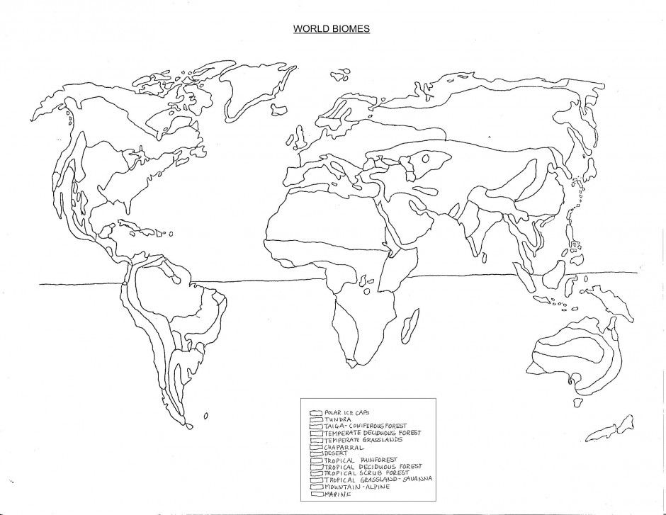 Free Coloring Pages Of World Biome Map