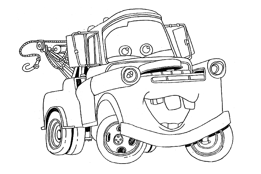 pixar movie cars coloring pages - photo#32
