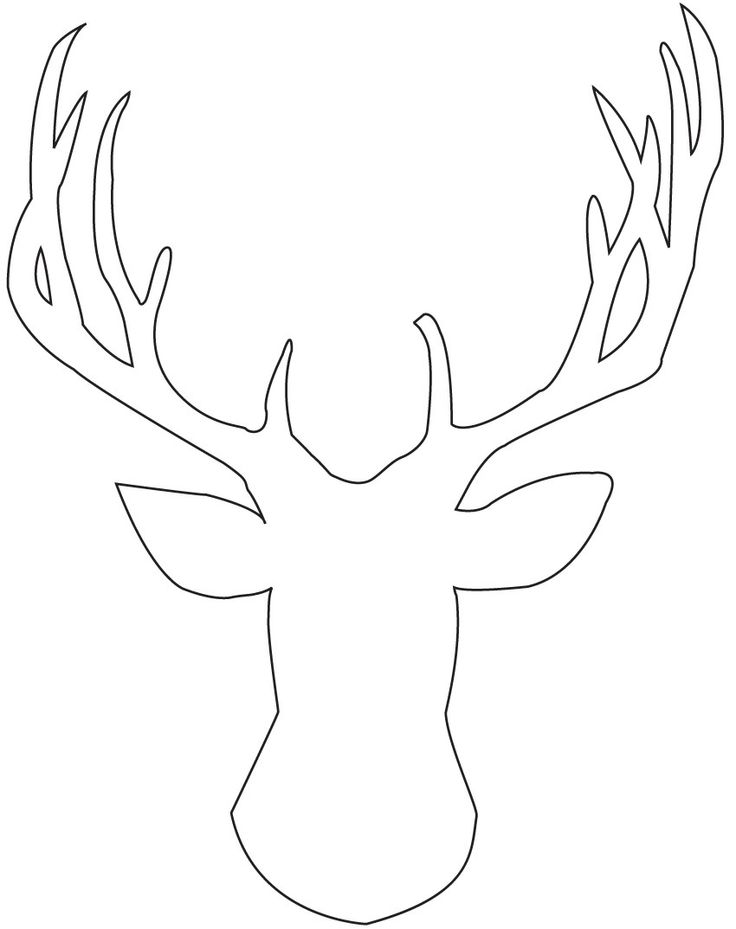 Reindeer Template Printable   Coloring Home