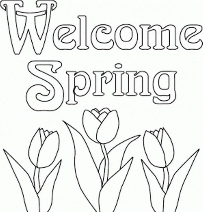 spring kindergarten coloring pages - photo#8