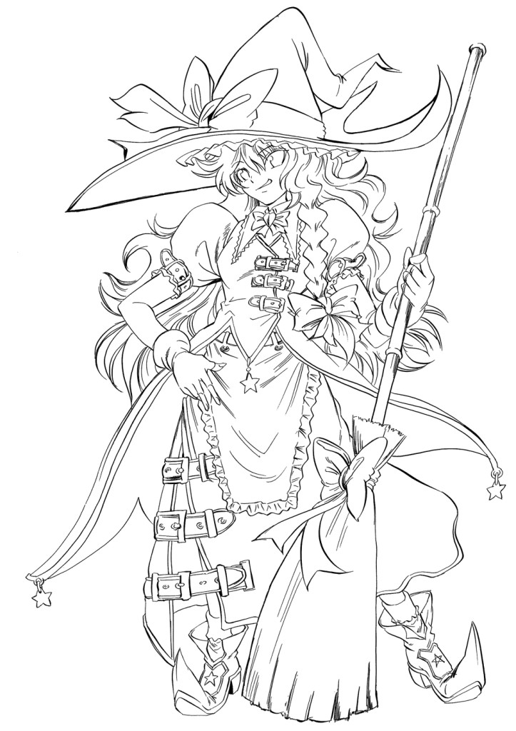 Line Art For Coloring : Anime line art coloring pages az