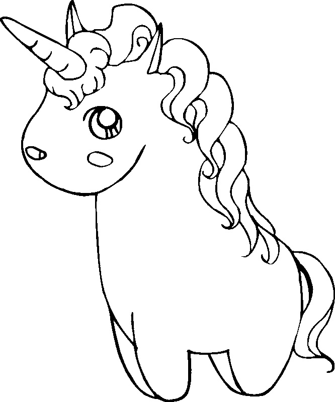 Coloring Pages For Unicorns : Unicorn coloring pages for kids az
