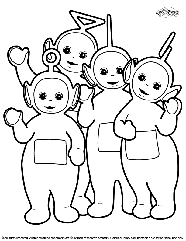 Teletubbies Coloring Pages To Print