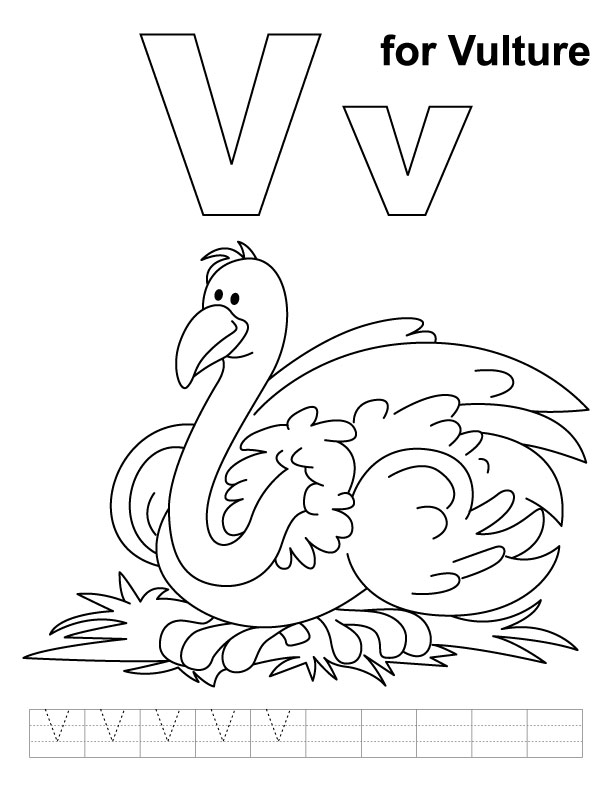 v coloring pages for kids - photo #30