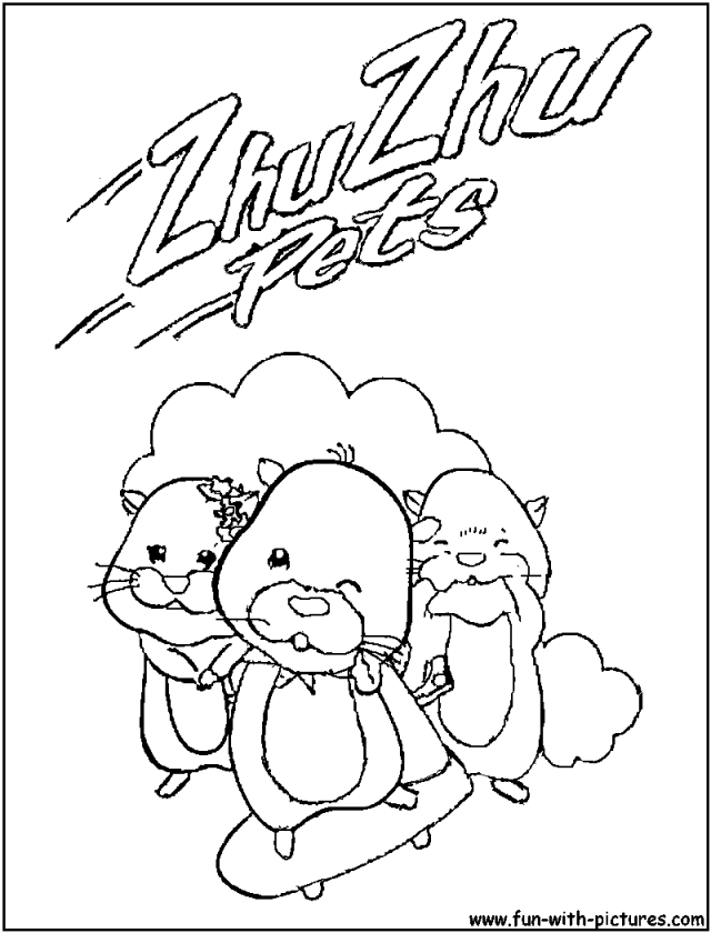 Zhu Zhu Pets Coloring Pages Pets For UPets For U 97823 Pets