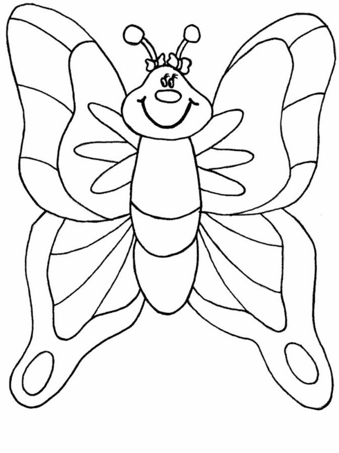 Kids Butterfly Coloring Pages for Preschool - Animal Coloring