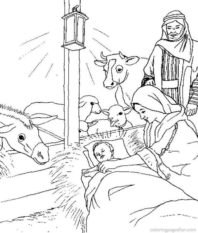 Bible Christmas Story Coloring Pages 27 Religious Christmas Coloring Home