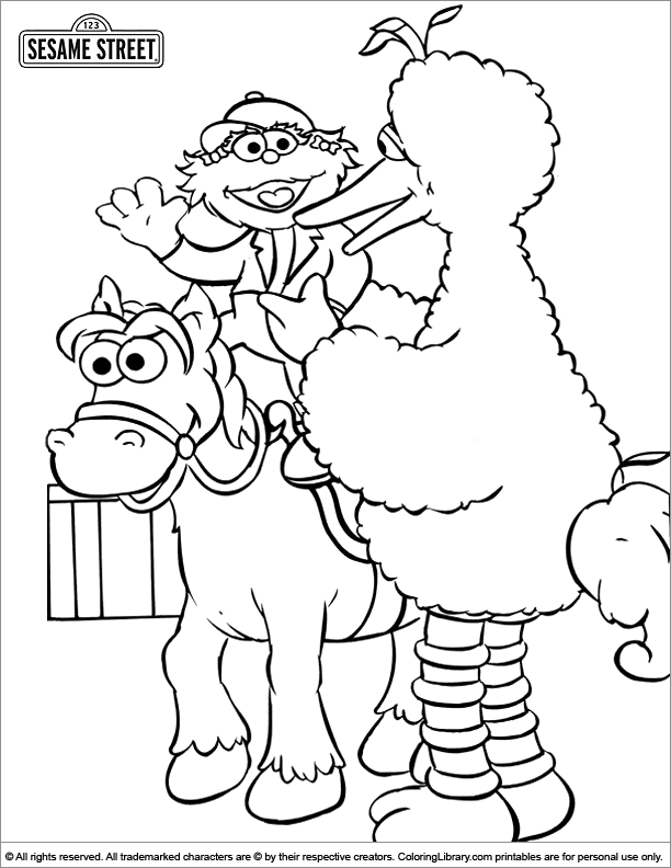 sesame street sign coloring pages - photo#18