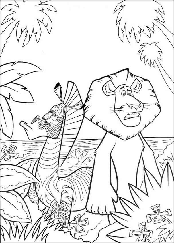 Alex Coloring Pages Kids Crafts And Activities Drawing For Madagascar