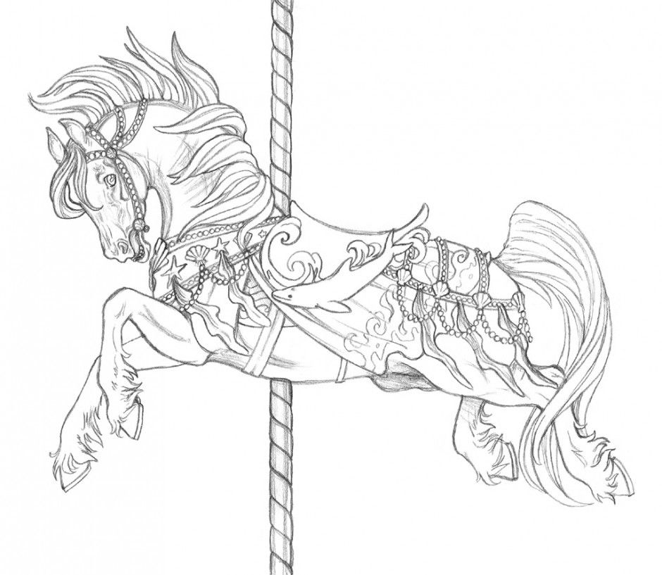 Carousel Coloring Pages Coloring
