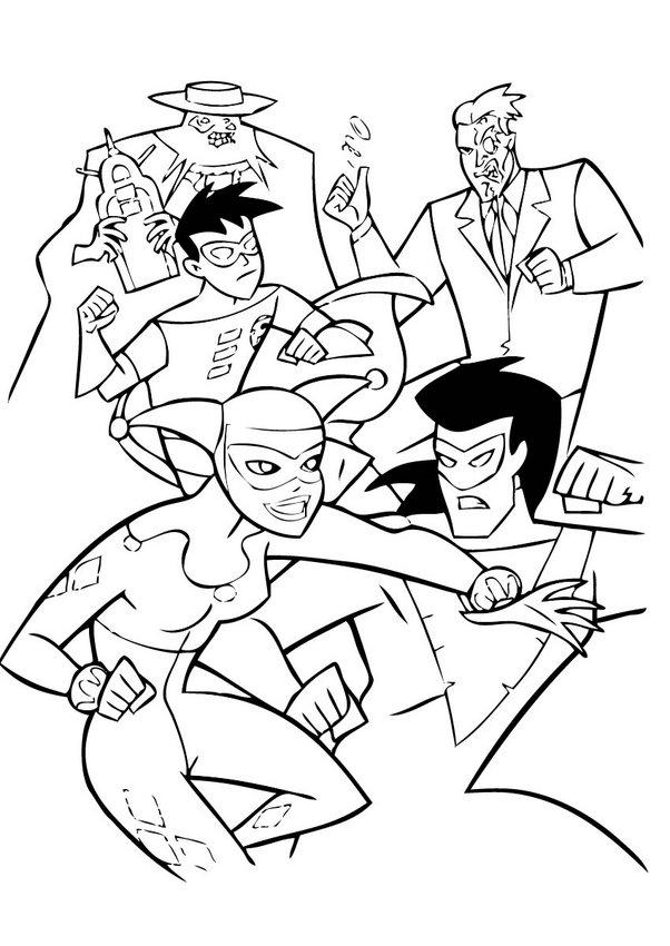 batman spiderman superman coloring pages - photo#26