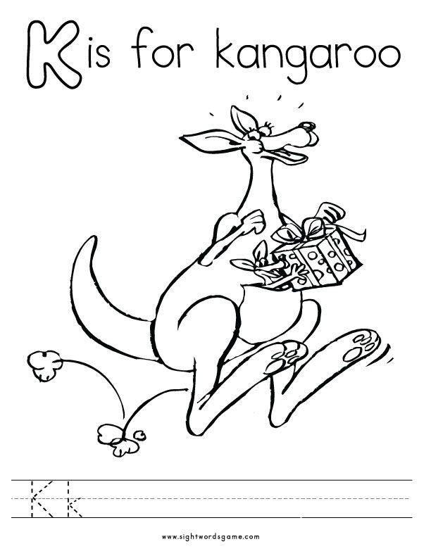 Alphabet Sounds Coloring Pages : Letter k coloring page home