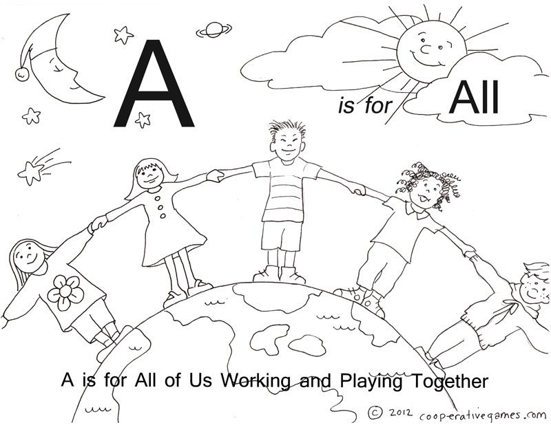 A – ABC Coloring Pages