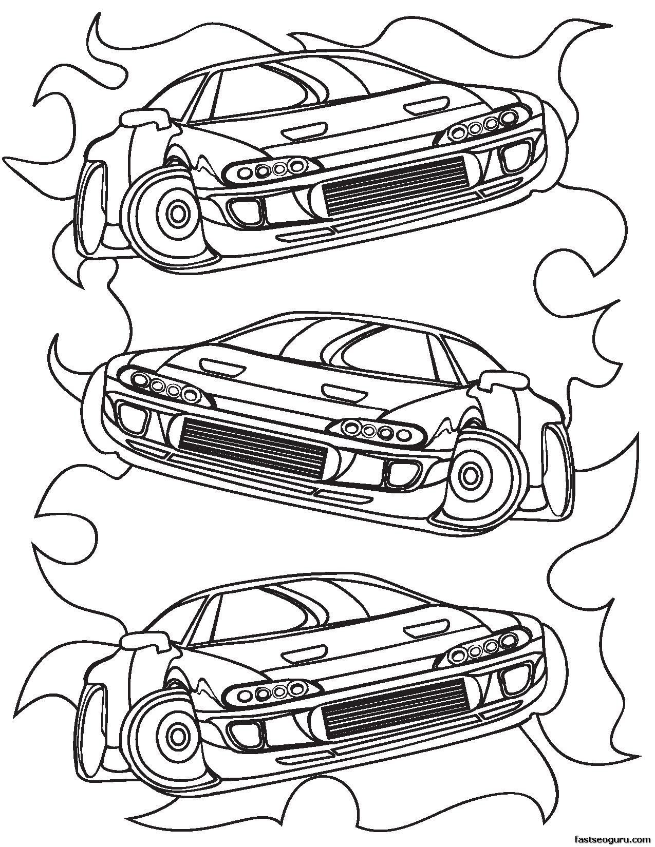 Coloring Pages For Boys Cars Printable - Coloring Home