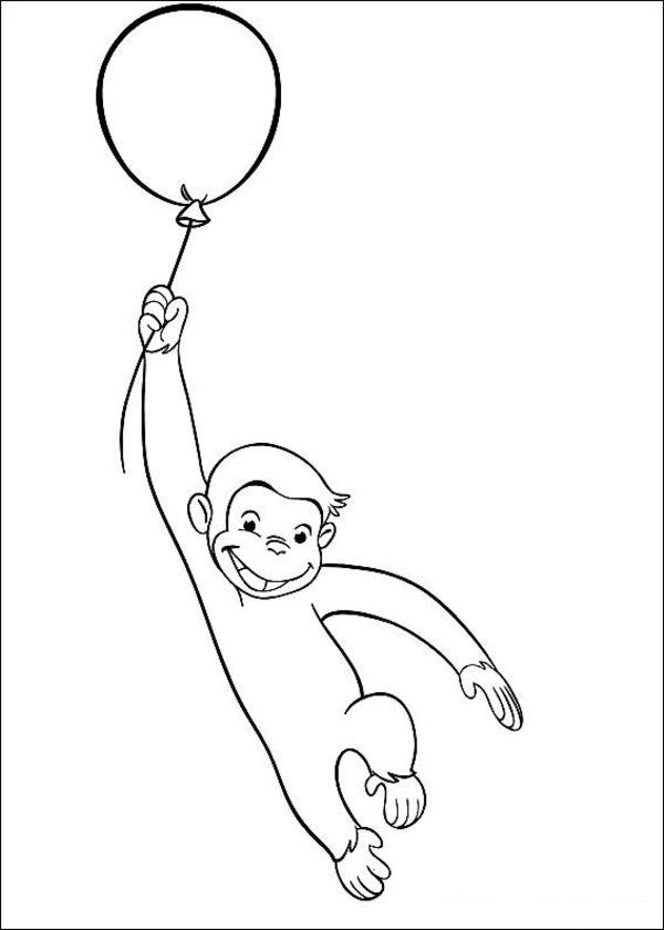 curious george halloween coloring pages - photo#23