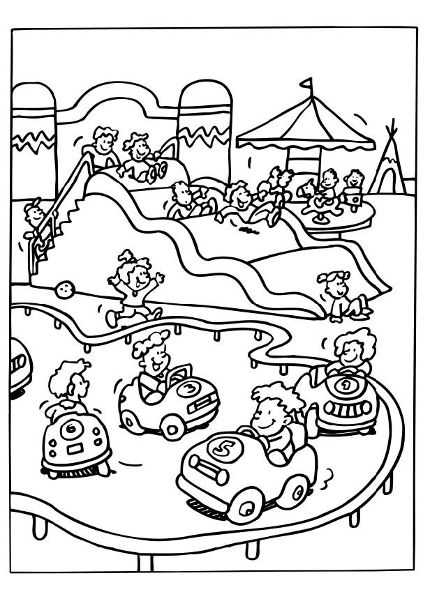 Park Coloring Page - Coloring Home