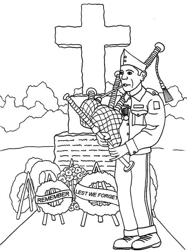 Soldier on Remembrance Day Coloring Pages: Soldier on Remembrance ...