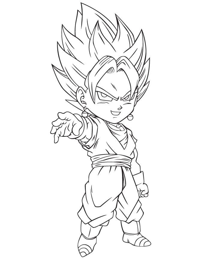 Dragon Ball Z Vegeta Coloring Page Coloring Home