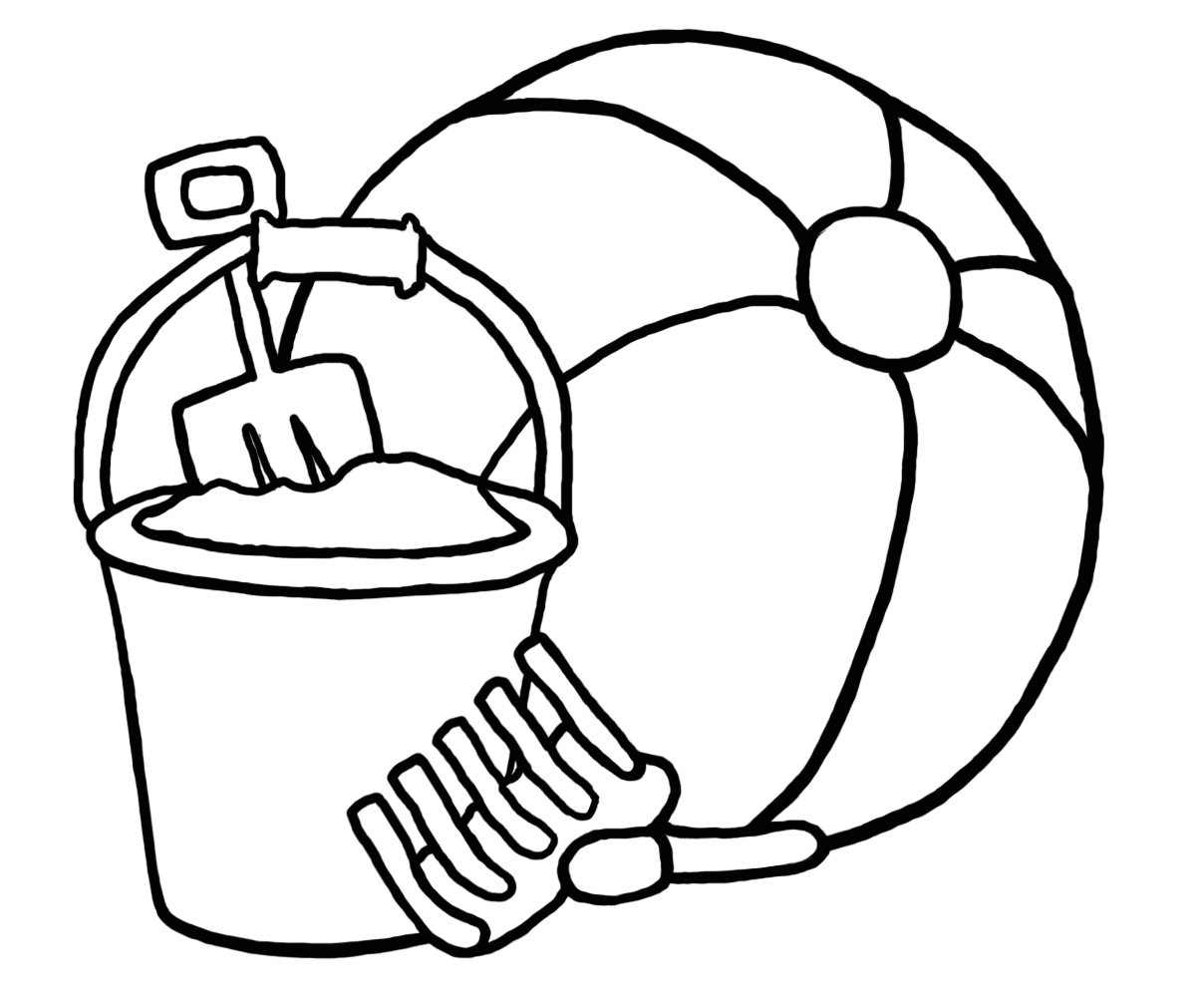Pail And Shovel Coloring Page Coloring Home - Bucket-and-shovel-coloring-page