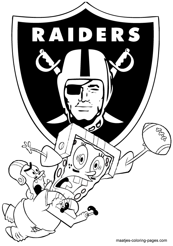 saints coloring pages football raiders - photo#19