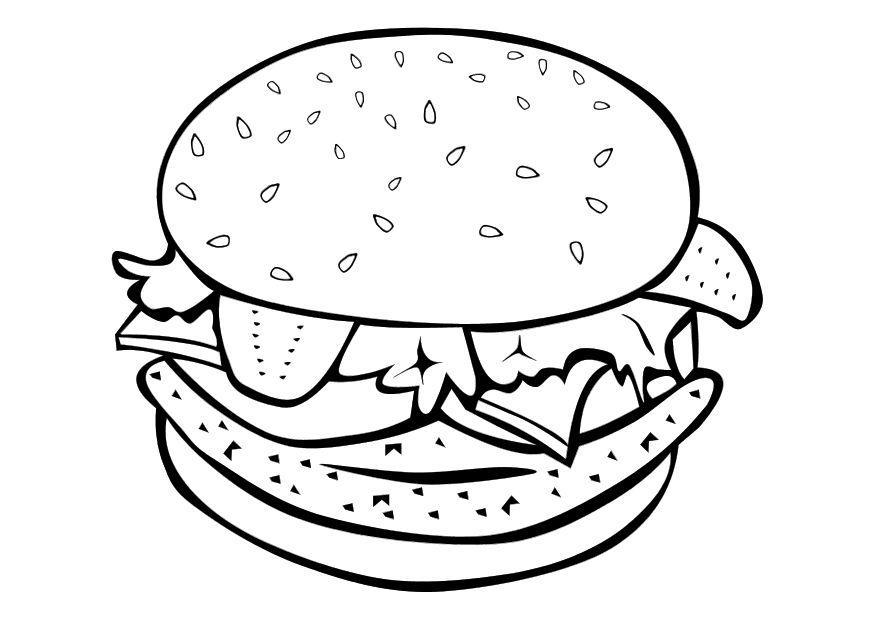 Hamburger Coloring Pages Coloring Home