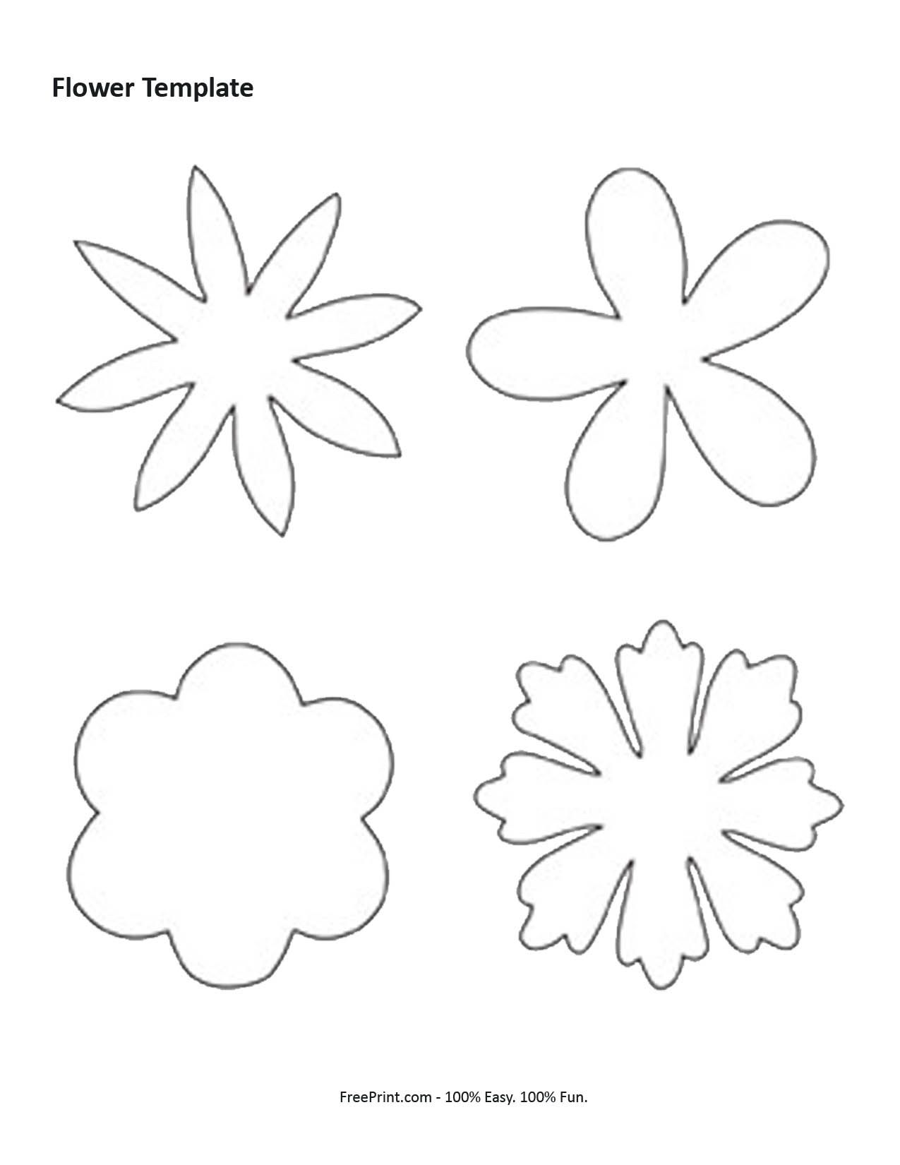 Printable flower templates coloring home 7 best images of shape flower printable templates free printable pronofoot35fo Image collections