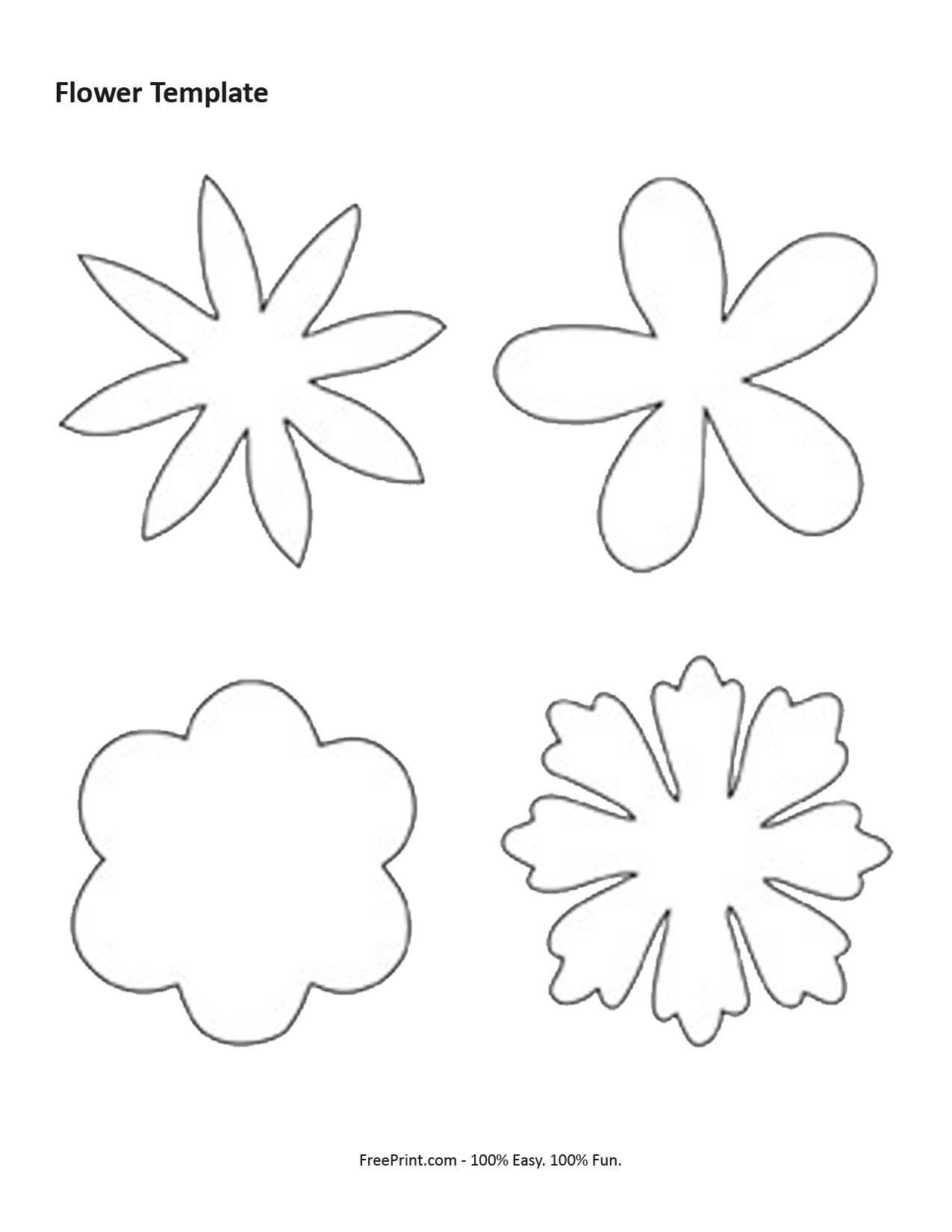Printable Flower Templates