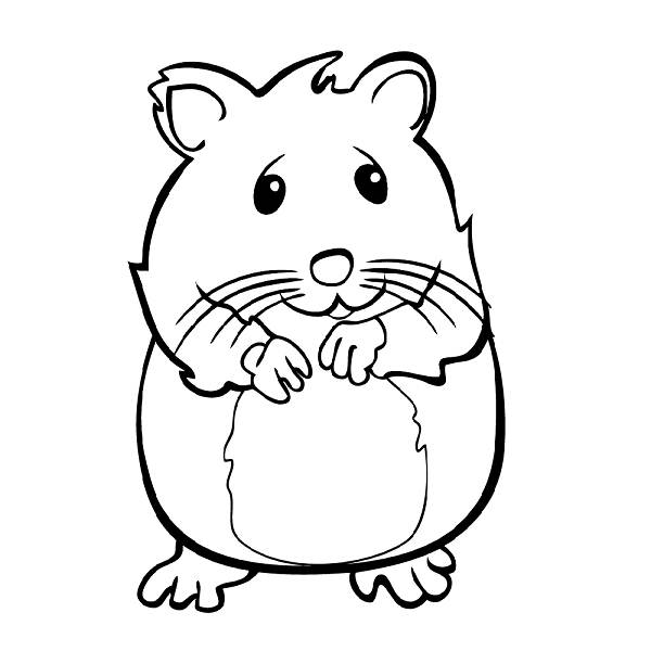 Hamster Coloring Pages FAGI VISUALDNSNET Coloring Home
